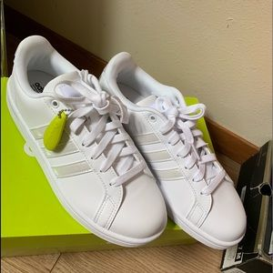 White Base Line Adidas Shoes, Never Worn
